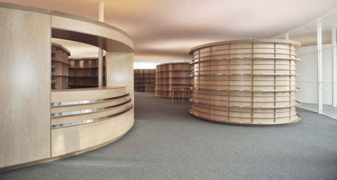 Librairie La Fontaine, EPFL, Rolex Learning Center | Lausanne | Kawamura Ganjavian Architecture Design